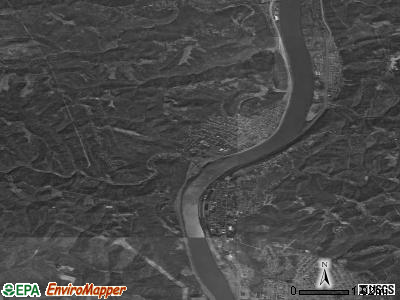 Zip code 43947 satellite photo by USGS
