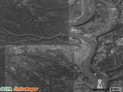 Zip code 43952 satellite photo by USGS