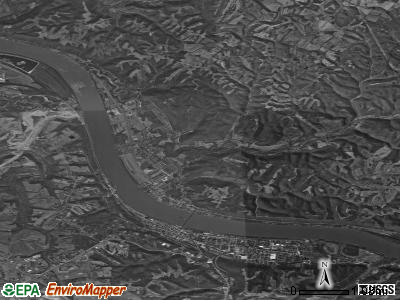 Zip code 45101 satellite photo by USGS