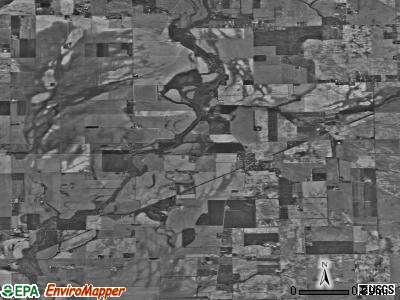 Zip code 46110 satellite photo by USGS