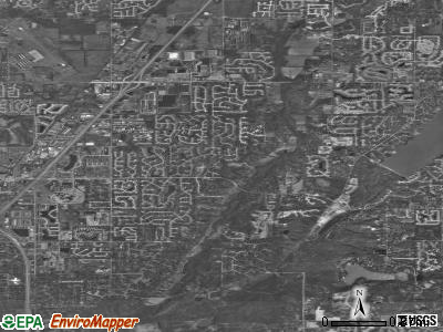 Zip code 46256 satellite photo by USGS