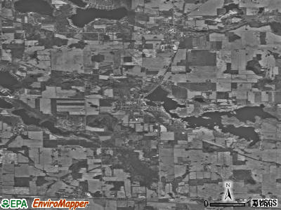 Zip code 46784 satellite photo by USGS