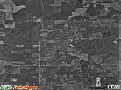 Zip code 47537 satellite photo by USGS