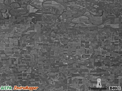 Zip code 47564 satellite photo by USGS