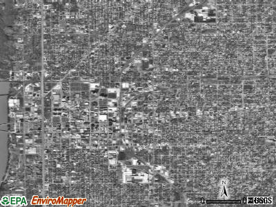 Zip code 47807 satellite photo by USGS