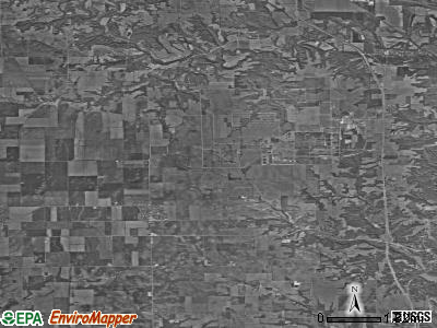 Zip code 47847 satellite photo by USGS