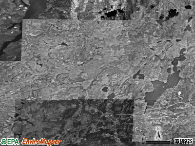 Zip code 05743 satellite photo by USGS
