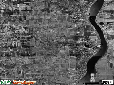 Zip code 48054 satellite photo by USGS