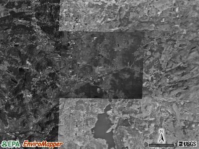 Zip code 05764 satellite photo by USGS