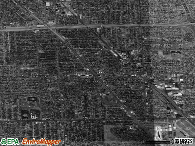 Zip code 48220 satellite photo by USGS
