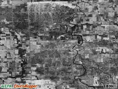 Zip code 48457 satellite photo by USGS