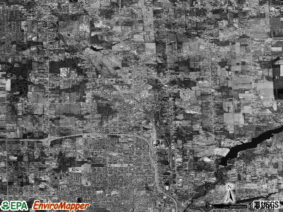 Zip code 48458 satellite photo by USGS