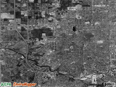 Zip code 48504 satellite photo by USGS