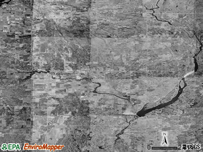 Zip code 48612 satellite photo by USGS