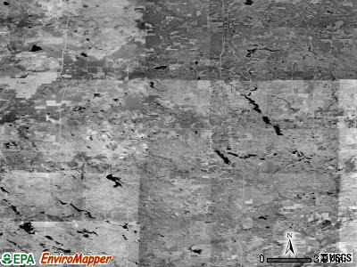 Zip code 48625 satellite photo by USGS