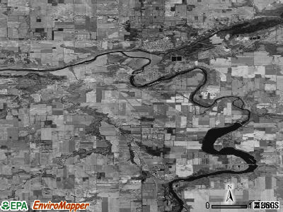 Zip code 48851 satellite photo by USGS