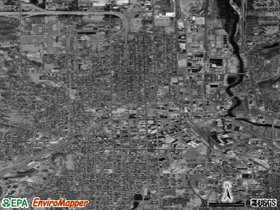 Zip code 49007 satellite photo by USGS