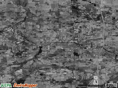 Zip code 49078 satellite photo by USGS