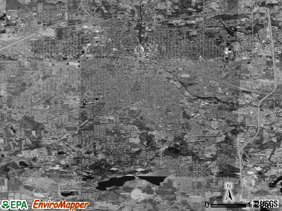 Zip code 49203 satellite photo by USGS