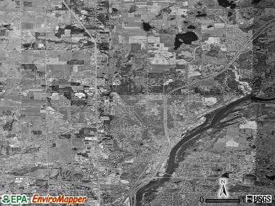 Zip code 49321 satellite photo by USGS