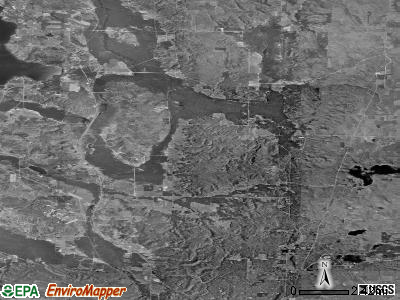 Zip code 49713 satellite photo by USGS