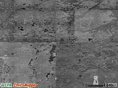 Zip code 49735 satellite photo by USGS