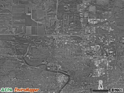 Zip code 50313 satellite photo by USGS