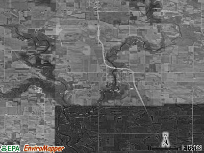 Zip code 50647 satellite photo by USGS