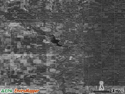 Zip code 50658 satellite photo by USGS