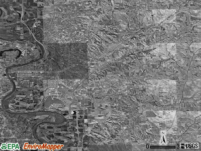 Zip code 51503 satellite photo by USGS