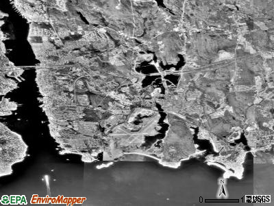 Zip code 06340 satellite photo by USGS