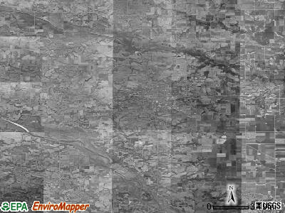 Zip code 52577 satellite photo by USGS