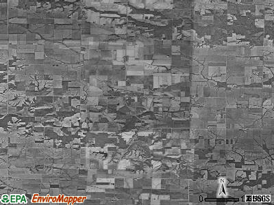 Zip code 52621 satellite photo by USGS