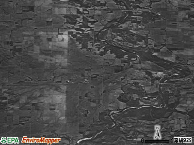 Zip code 52720 satellite photo by USGS