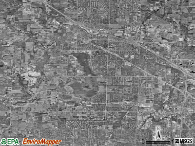 Zip code 53051 satellite photo by USGS