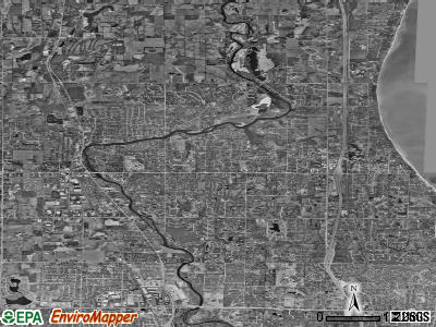 Zip code 53092 satellite photo by USGS