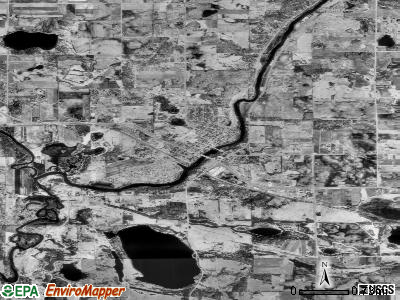 Zip code 55373 satellite photo by USGS