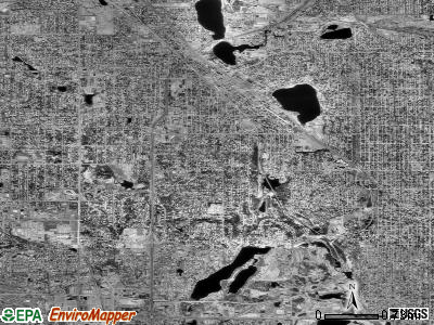 Zip code 55422 satellite photo by USGS