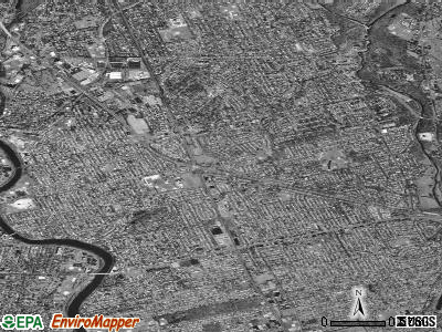 Zip code 07410 satellite photo by USGS