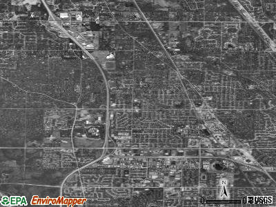 Zip code 60015 satellite photo by USGS