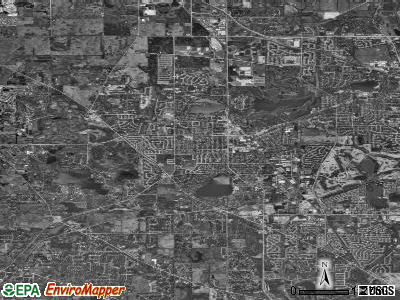 Zip code 60060 satellite photo by USGS