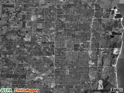 Zip code 60099 satellite photo by USGS