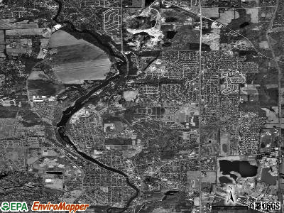 Zip code 60110 satellite photo by USGS