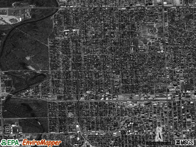 Zip code 60305 satellite photo by USGS