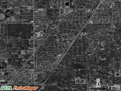 Zip code 60422 satellite photo by USGS