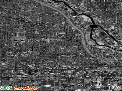 Zip code 60622 satellite photo by USGS