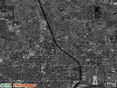 Zip code 60625 satellite photo by USGS