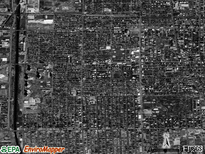 Zip code 60645 satellite photo by USGS