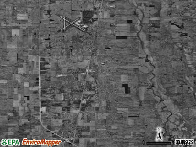Zip code 61880 satellite photo by USGS