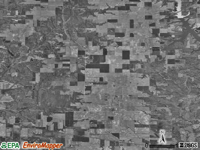 Zip code 62019 satellite photo by USGS